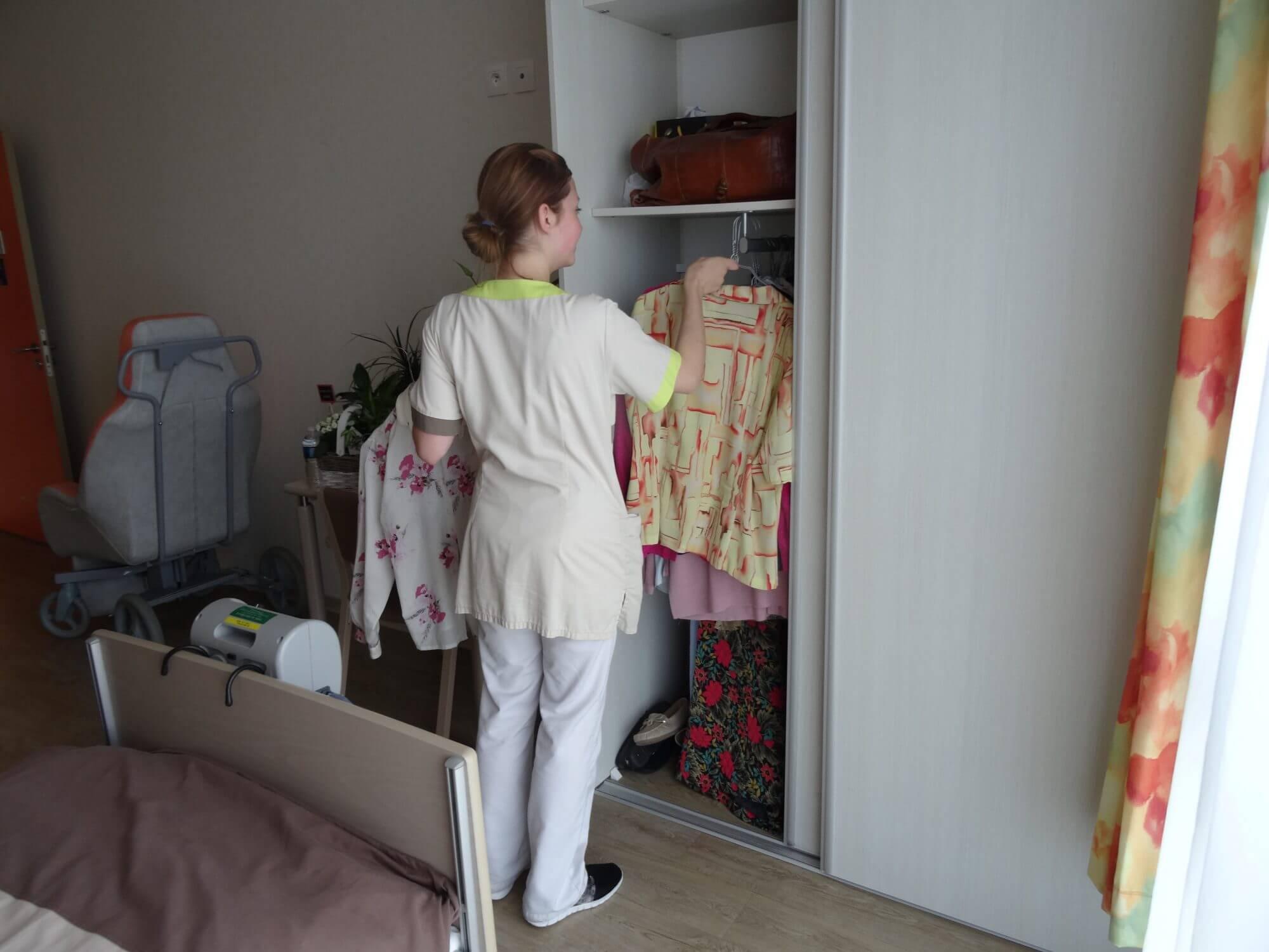 linge établissement pour personnes âgées dépendantes