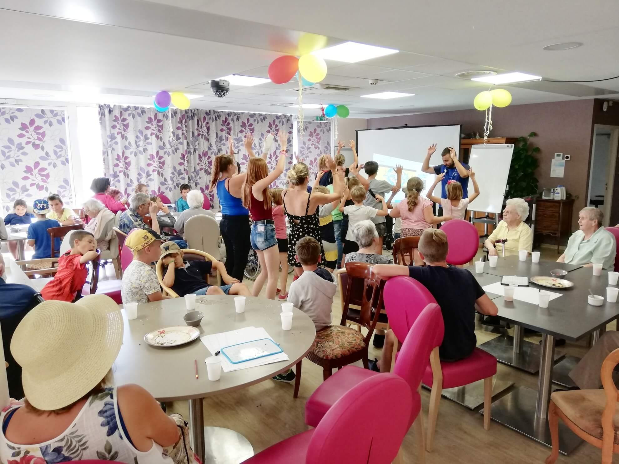 rencontre intergénérationnelle centre loisirs de marck ehpad les lilas marck en calaisis (1)