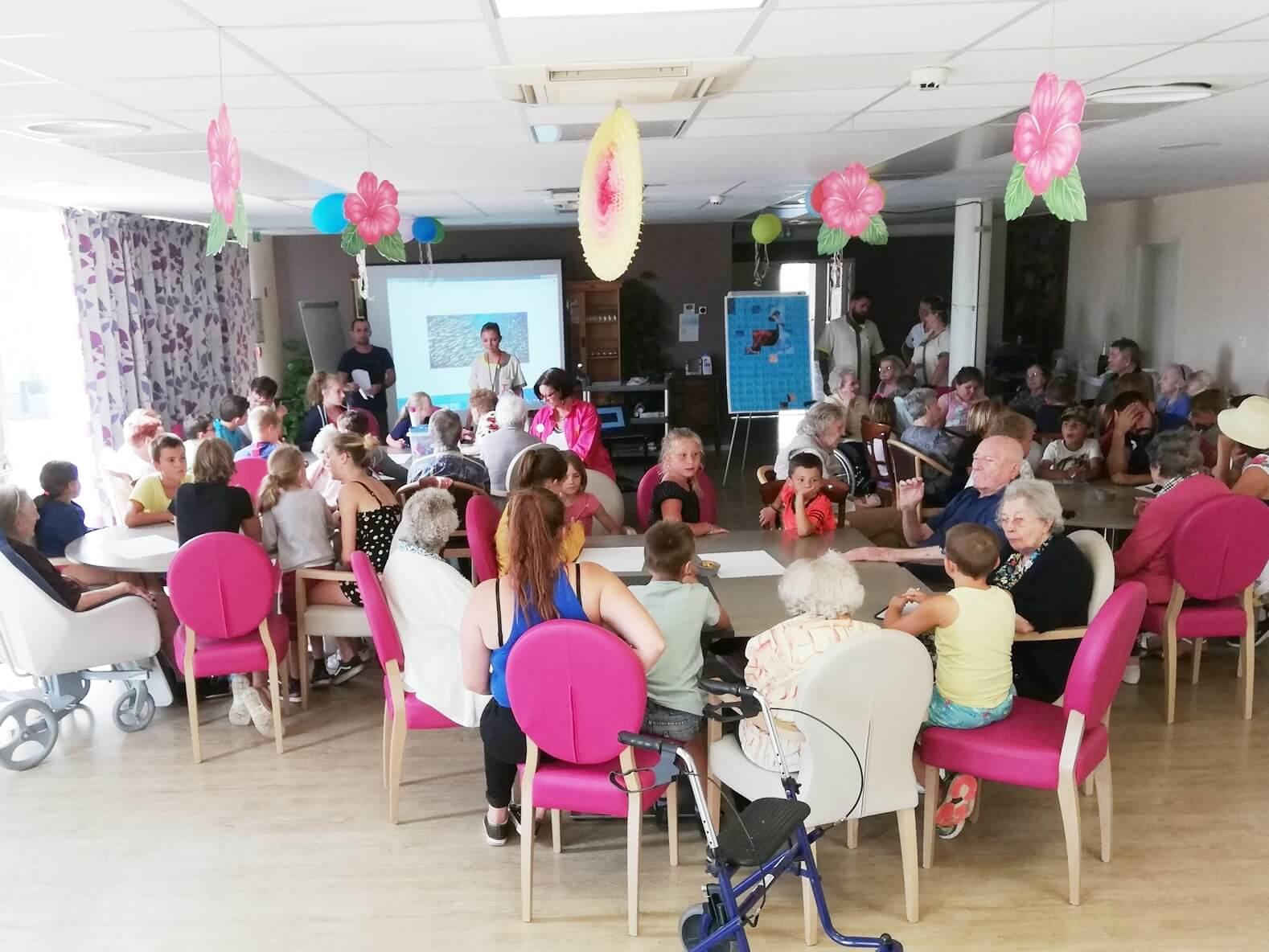 rencontre intergénérationnelle centre loisirs de marck ehpad les lilas marck en calaisis (2)